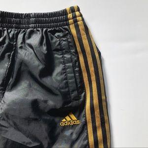 Adidas Kids Black & Gold Track Pants - size medium